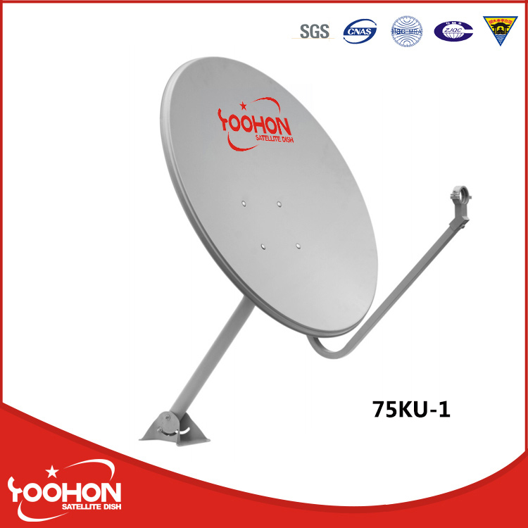 75cm offset satellite antenna dishes
