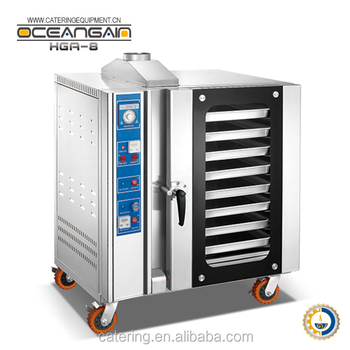 HGA-8 8 pans Stainless Steel Industrial Gas Convection Oven