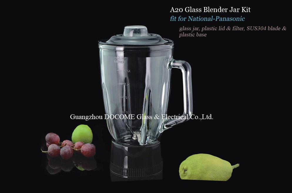 Blender Kf Wli Rrp A20 Soda Lime Glass Jar Assembly With