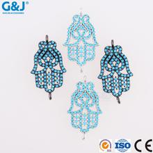 Guojie brand new design colorful CZ pave micro bead angel charm pendant