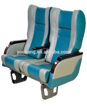 Embossed logo leather van seat for clinic