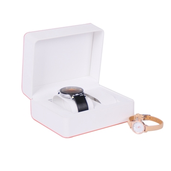 Custom luxury his and hers fancy leather watch gift box