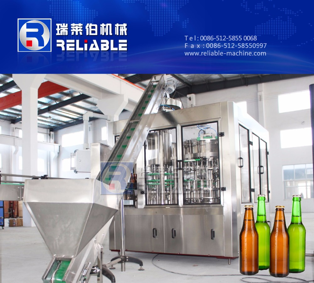 475ml glass bottle juice bottling filling machine with vacuum pump