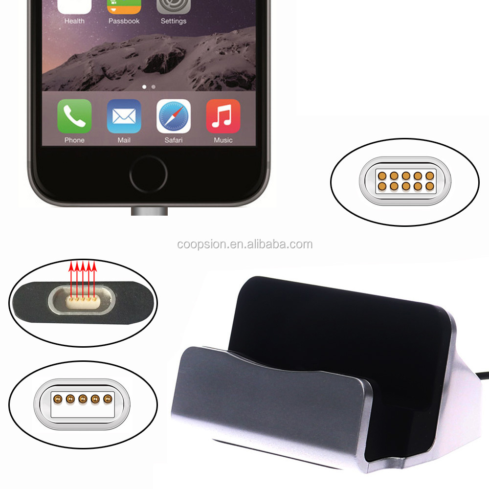 For iphone charger stand magnetic adapter dock