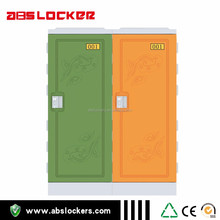 cheap colorful two tires plastic ABS locker for home