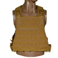Khaki Lightweight Military Tactical Plate Carrier Air Soft Combat Vest
