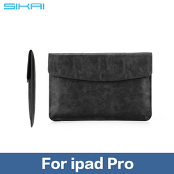 "New Original Ultra-Thin Genuine Leather Sleeve Bag For Apple ipad pro 12.9 "" case ipad pro macbook 12/11.6 inch tab pouch Case"