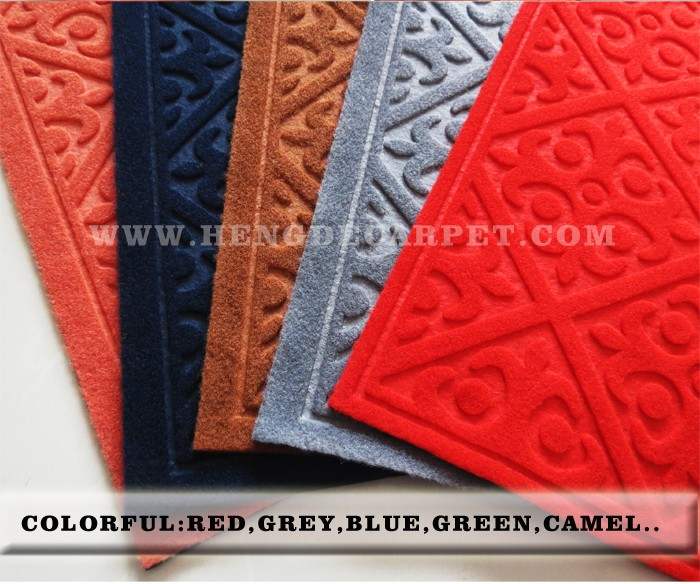 wholesale embossed entrance door mats with pvc backing