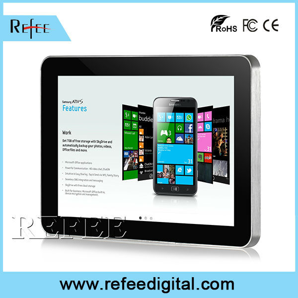 "Ipad style narrow boarder ultra thin lcd display 7"" touch screen rj45"
