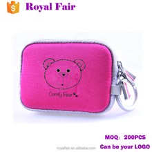 Customized imprint small neoprene pouch digital camera bags for girls