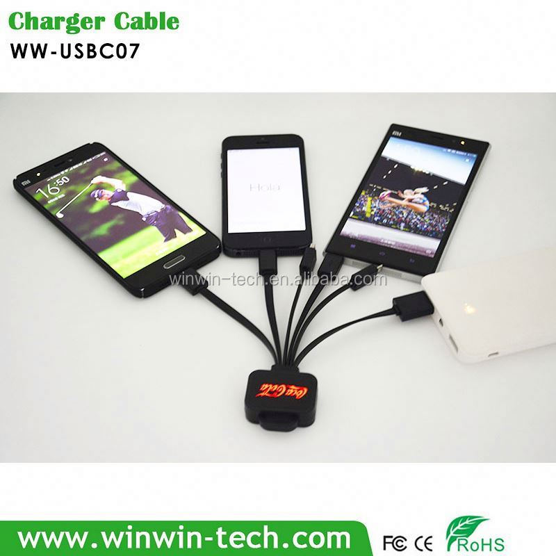 Multi-tip usb phone jack cable for corporate gifts