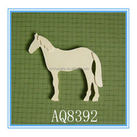 Arts and crafts natural wooden horse decoration wholesale