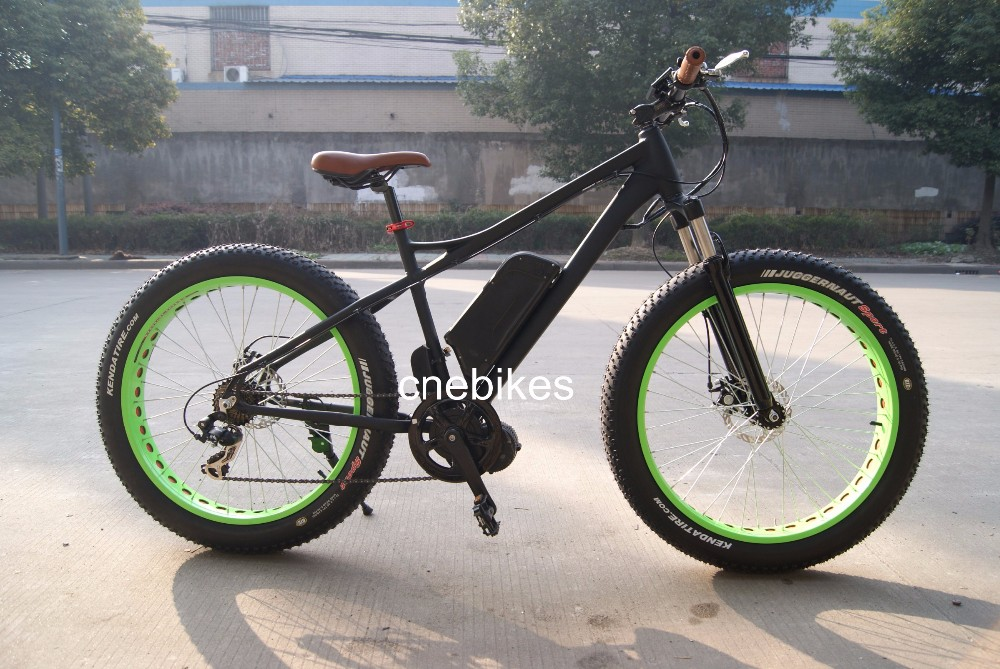 26''4.0 48v 11.6Ah mid motor driving bicycle electric with 8 fun mid drive motor 500w