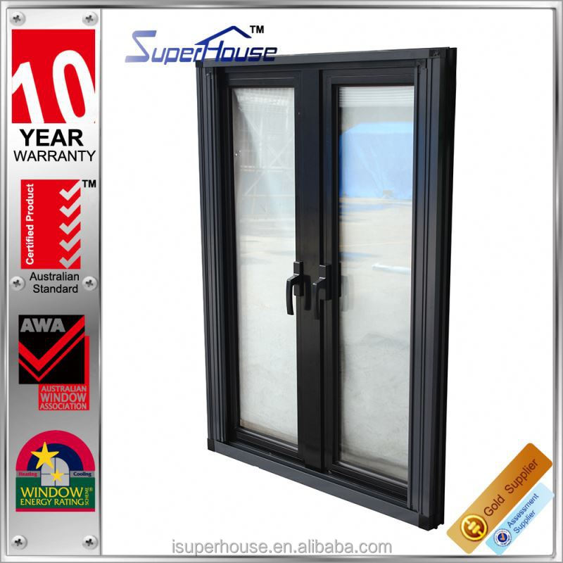 Energy saving retractable screen aluminium tilt out window with thermal break profile