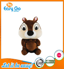 Hot Sale Round Sitting Squirrel With Big Brown Nut Plush Toy