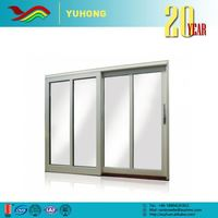 Best selling low prices plant designed energy saving tempered glass front door