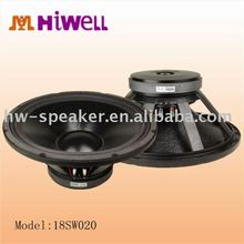 "18"" good bass extension loudspeaker subwoofer"