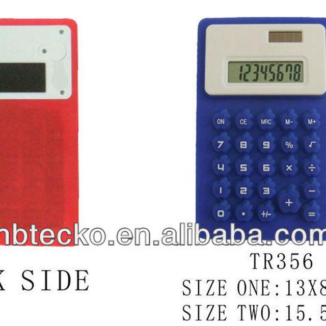 Fashion design foldable silicon desk 8 digit calculator