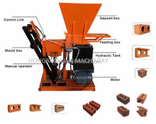 low investment high profit business adobe tiger concrete block machine at6 HBY2-15 concrete hollow block and paver maker