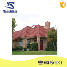 High Cost-Effect Low Price Roman Type Stone Coated Metal Roof Tile