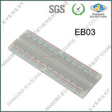 "Solderless EVEREST Breadboard with Bus Strip, 830 Tie-Point, 6-1/2"" Length x 2-1/8"" Width Strip"