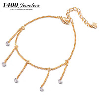 T400 Hot Sale Fashion Jewelry Superb Anklet Zircon Jewelry#3573