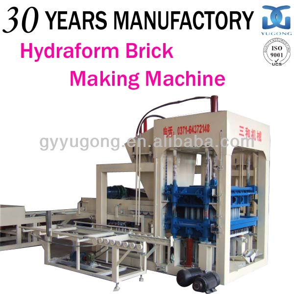 PLC control system QT10-15 full automatic cement compressed earth blocks making machine