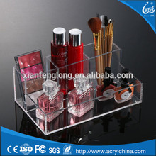Fashion Acrylic Clear Cosmetic Organizer Makeup Case Holder Display Stand