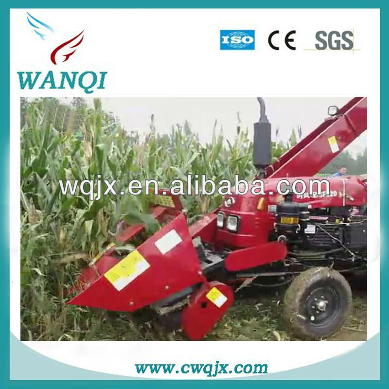 Multi-functional wheel type self propelled corn harvester with peeler