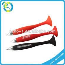 Wholesale custom logo 3D colorful lovery shape soft silicone pen sucker
