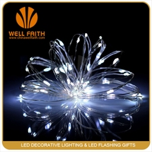 4.5V White LED silver Wire String Light for indoor Decoration Kitchen LED Lighting Flowers Trees Decorative