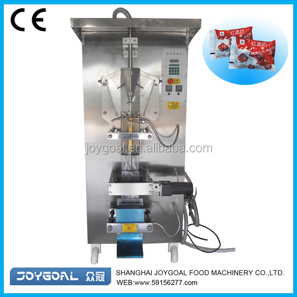 full automatic liquid plastic water bag filling sealing machine