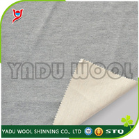 Double faced worsted wool knit fabric / poly knit fabric / supplier of fabric for clothing