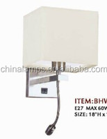 CE and SAA certification chinese style hotel led gooseneck wall lamp/headboard reading lights for holiday inn