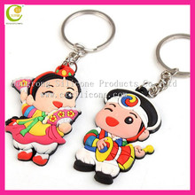 2013 newest trendy fashion and hot selling soft pvc reflective keychain custom silicone keychains