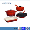 Cast Iron Enamel Cookware Set with pot and pan
