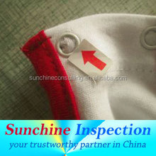 inspection service for Baby clothes in Chinese factory before shipped out with qualified inspector/during production check