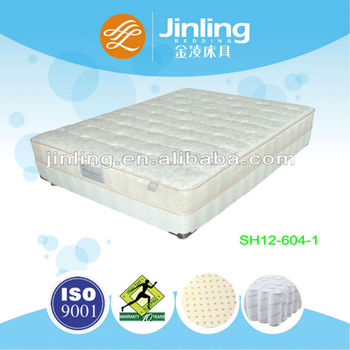 Pocket coil spring mattress with latex foam in filling