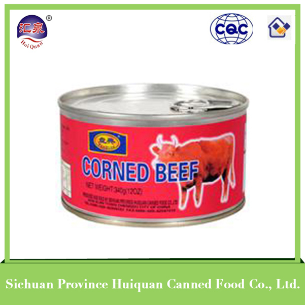 2015 hot selling products canned food yummy beef luncheon meat