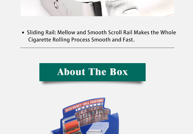 Jiju Hot Selling Smoking Accessories JL-002C Machine Rolling Cigarette