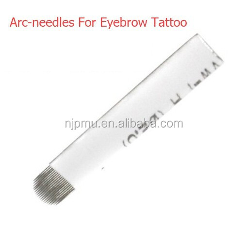 Arc-needles For Eyebrow Manual Tattoo Pen Permanent Tattoo Makeup Machine Blades Independent Package Eyebrow Tattoo Needles