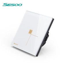 SESOO EU standard 433mhz rf wireless remote control household appliances Wall touch light <strong>switch</strong>