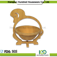 wholesale China import bamboo natural handmade handmade decorative folding fruit bowl