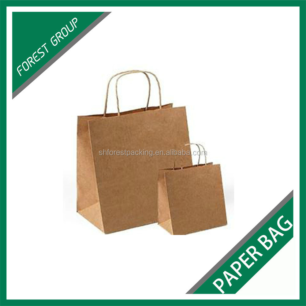 RECYCLED PAPER MATERIAL BROWN PAPER BAGS FOR PACKING GARMENTS