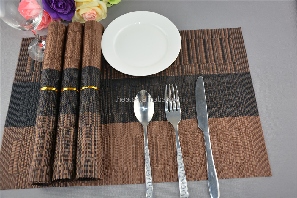 PVC insulation kitchen placemat table decoration washed clean breakfast lunch dinner
