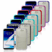 FL2399 2013 Guangzhou hot selling photo frame tpu soft back case with stand for samsung galaxy note 2 n7100
