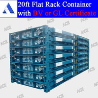 20ft 40ft flat rack folding shipping container