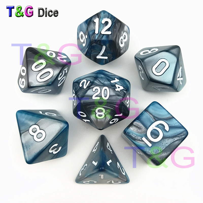 Dice Set D4 D6 D8 <strong>D10</strong> D12 D20 For d&d Dices