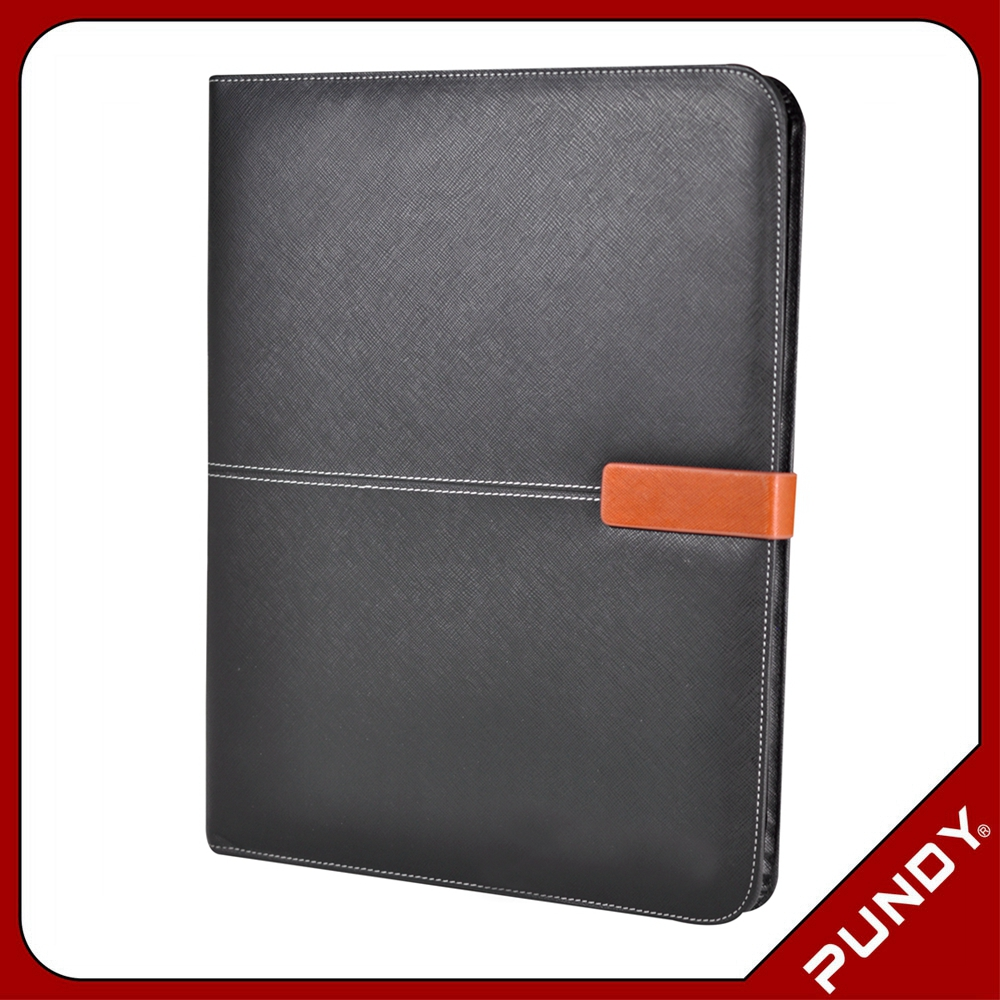 hot sale good quality b5 file folders personalized leather portfolio