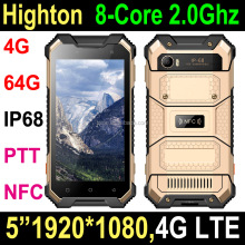 "Factory Original 5"" Octa Core IPS FHD 1920*1080 Pixels Cellphone Tri-Proof Rugged Water Smartphone mobile phone with PTT SOS"